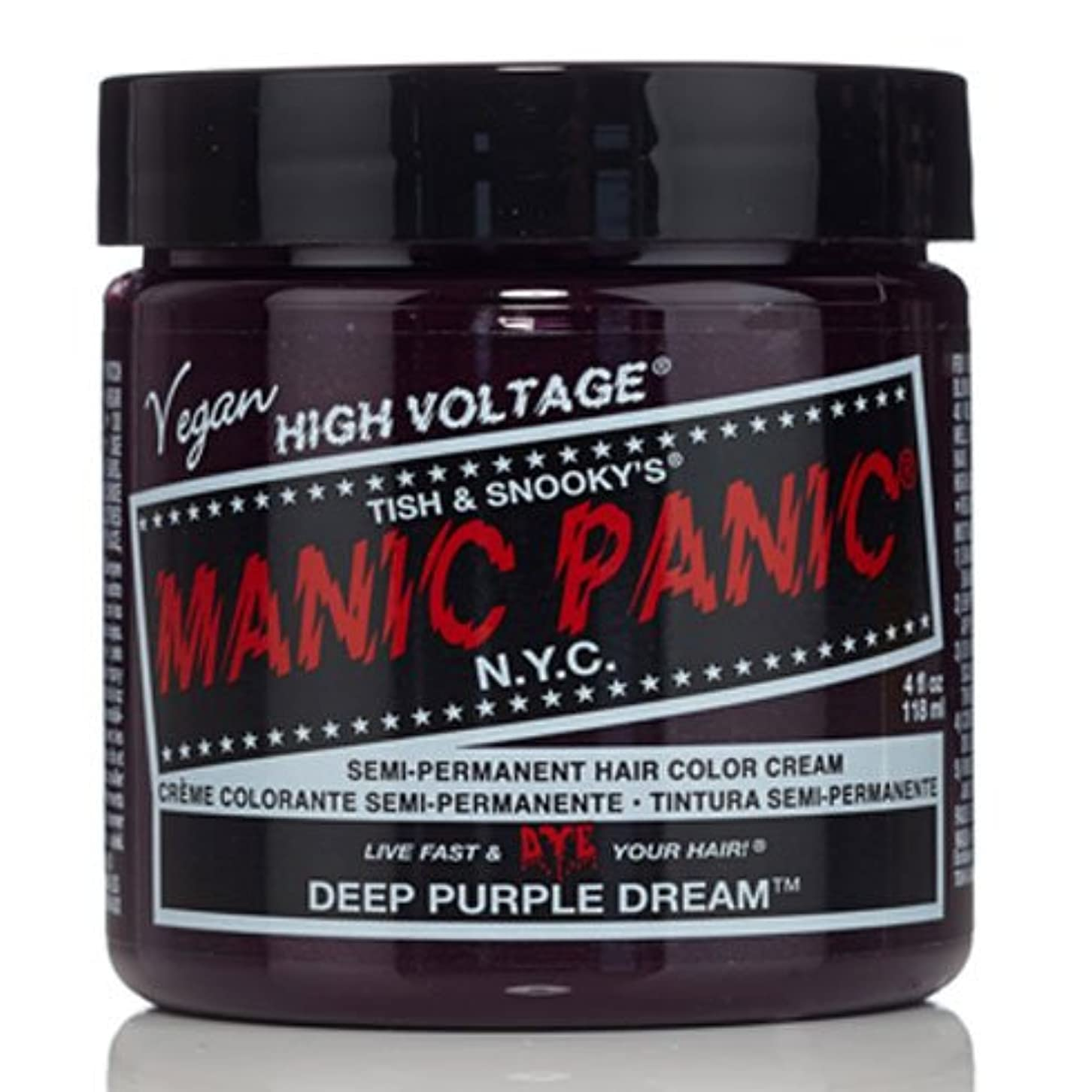 人形石毒液スペシャルセットMANIC PANICマニックパニック:DEEP PURPLE DREAM (ディープパープルドリーム)+ヘアカラーケア4点セット