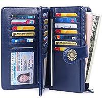 Sendefn RIFD Bloking Genuine Leather Short Small Wallets Purses for Women Men Retro Female Coin Purses Card Holder Organizer Yellow Blue Black