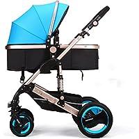 高地の赤ちゃんのベビーカーと豪華なカートFoldableアルミニウム軽量のベビーカー (色 : B)