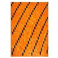 ホームDecor牛革Hair onレザーパッチワーク長方形エリア絨毯カーペット