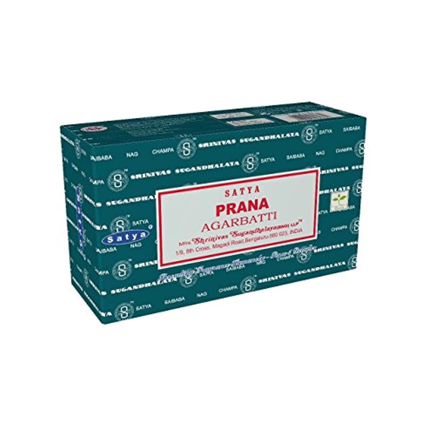 Satyaバンガロール(BNG) Prana Incense Sticks 12ボックスX合計15 g180グラム