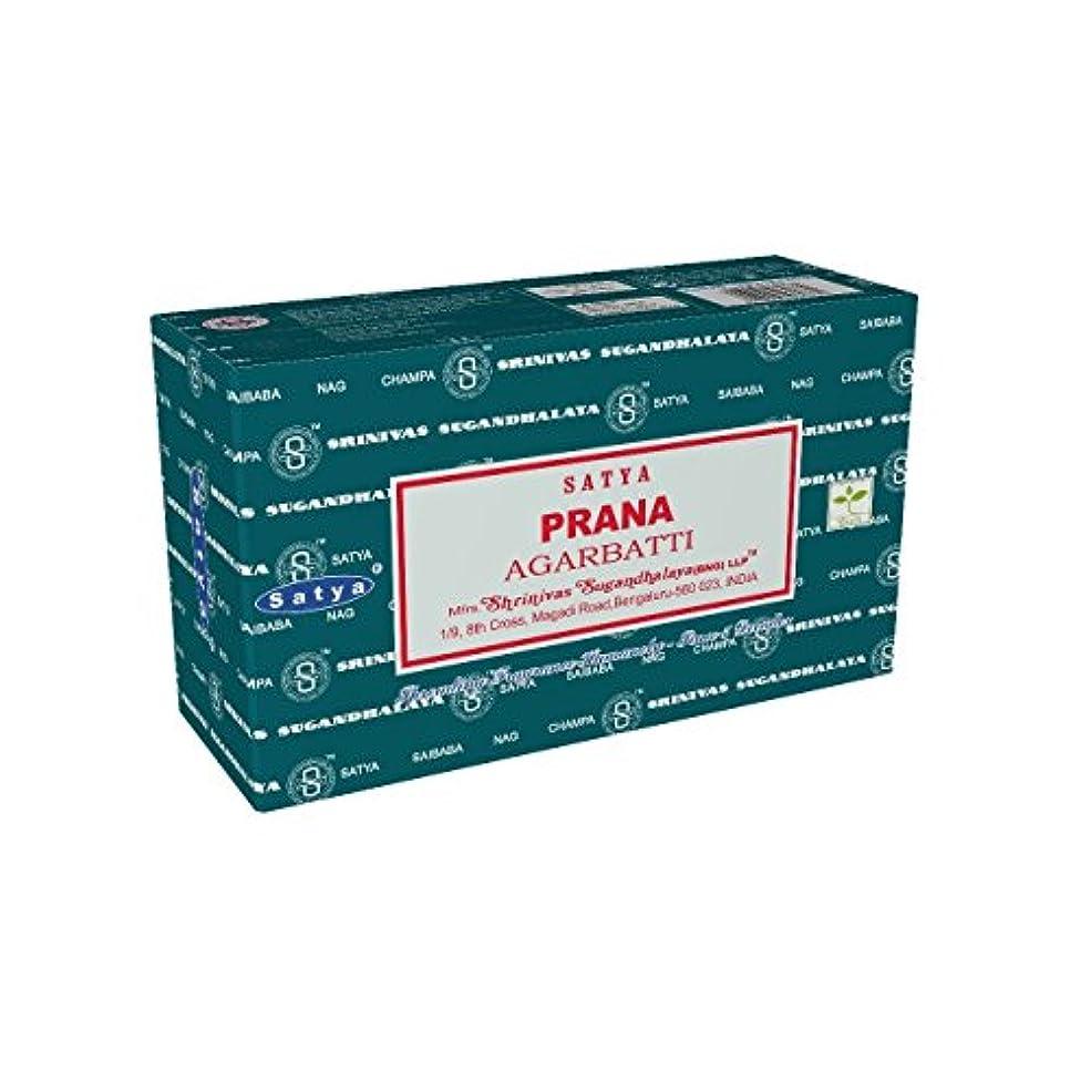 扱いやすいカジュアル悲観的Satyaバンガロール(BNG) Prana Incense Sticks 12ボックスX合計15 g180グラム