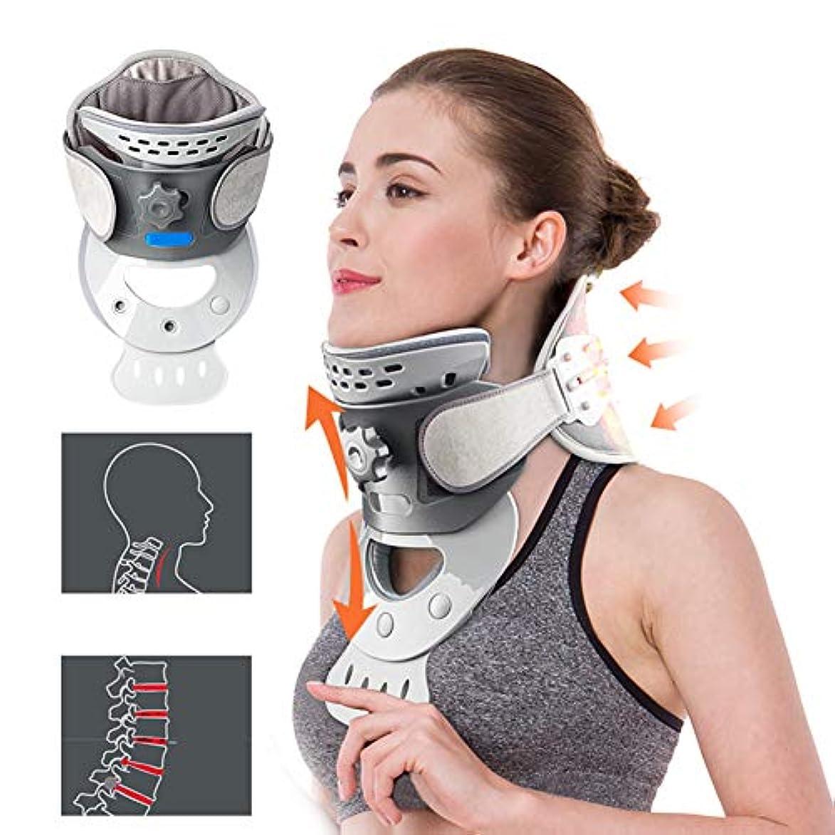 治すいわゆるアノイ加熱頸椎牽引装置、在宅医療サポートの首の肩の痛みの軽減、調節可能な改善された背骨の配置