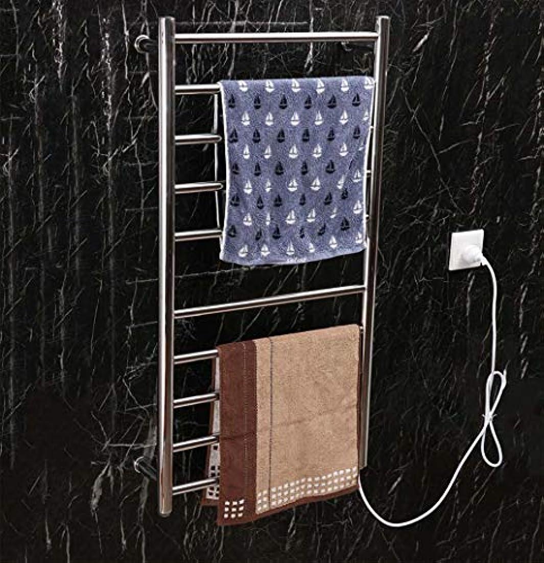 弁護先住民話電気タオル掛け、304ステンレススチール製スマートタオルラジエーター、壁掛け式、バスルームラック、恒温乾燥機、950X500X120mm