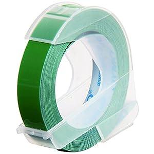 ダイモ テープ 幅9mm×3m巻 つやあり 緑 DM0903GR