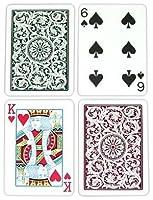 CopagT Pokerサイズレギュラーインデックス–greenburgundyセットアップby Copag