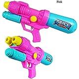 夏のビーチ水鉄砲のおもちゃ子供水鉄砲のおもちゃ大容量プル水鉄砲のおもちゃ水の戦いのための潮吹き銃 ( Color : Pink , Size : M )