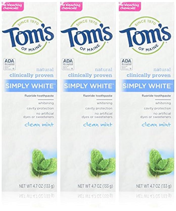 気をつけて無駄なコンテンツTOM'S OF MAINE - Simply White Toothpaste Clean Mint - 4.7 oz. (133 g) by Tom's of Maine