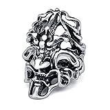 (エバベア)EVBEA ファッション アクセサリー ドクロ ゴシック リング シルバー 指輪 髑髏 (16)