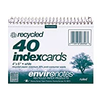 Environotes Recycled Wirebound Index Cards
