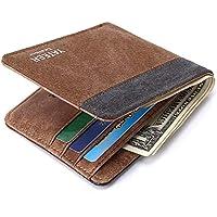 LDUNDUN-BAG, 2019 Canvas Wallet Men Short Paragraph New Men's Wallet Card Bag (Color : Brown-a, Size : S)