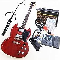 Blitz BSG-61 WR エレキギター VOXアンプ ZOOM G1Xon付初心者入門16点セット