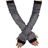 YAKIDA UV カット アームカバー 腕カバー UVカット手袋 綿麻 紫外線対策 ロング丈 日焼け対策 冷房対策 ゆったり 汗取り 敏感肌 涼感 薄手 男女兼用