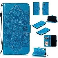 iPhone XRのためのEWCoverの札入れの箱、iPhone XRのための曼荼羅の花模様の優れたPuの革フリップカバーの貝