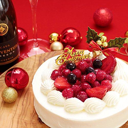 クリスマスケーキ 2017 ショートケーキ 送料無料 スイーツ 洋菓子 ギフト パーティー「ホワイトベリー 5号サイズ (クリスマス限定)」