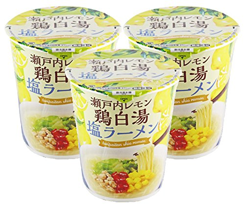 カルディオリジナル 瀬戸内レモン 鶏白湯塩ラーメン 66g×3P 【3個セット】