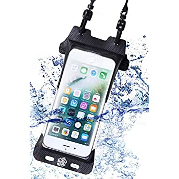 【完全防水 IPX8 スマホ 防水ケース】iPhone xr xs max 8plus スマホポーチ 指紋認証 対応 登山 トレッキング 海 プール 釣り お風呂 【sweetLeaff】 (iPhone8plus/xs max)