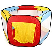 Qing折りたたみ式子供用ポータブルPitボールプールアウトドアインドアBaby Play Tent Hut家新しい
