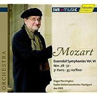 モーツァルト : 交響曲 第28番、第31番「パリ」、第32番、第35番「ハフナー」 (Mozart : Essential Symphonies Vol. VI ~ Nos. 28, 32, 31 Paris, 35 Haffner/Roger Norrington, Radio-Sinfonieorchester Stuttgart des SWR) [輸入盤]