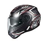 オージーケーカブト(OGK KABUTO)バイクヘルメット システム RYUKI ENERGY(エナジー) フラットブラックレッド (サイズ:L)