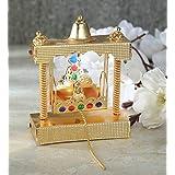 Itiha Mandir balgopal or Laddu Gopal jhula Swing for Home Temple mandir or car Dashboard showpiece