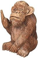 手彫りマホガニーRude Monkey Flipping鳥Statue by things2die4