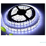 5M Waterproof Super Bright 3528SMD 600 LED Strip SAG Flat Strip Cool White for Decoration