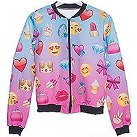 Kukubird Emoji Girl Brand New Exclusive Summer Range Various Pattern Emoji Styled Bomber Jackets