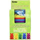 Eureka Classroom Supplies Learn to Count Counting Bears with Cups, 55 pcs