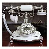 Fashion antique telephone,european home dial rotary landline style office classic creative metal fashion (Color : Upgrade models)