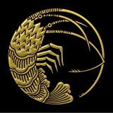 家紋 蒔絵シール 「海老の丸 金」