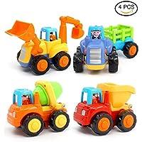 砂場おもちゃ 知育学習玩具 Aandyou ショベルカー 慣性車 子供用工事用車 トラック4セット