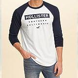 Hollister Co. ホリスター メンズ ラグランロンT 長袖TEEシャツ Guys Colorblock Graphic Tee 323-243-1999-100 (M) [並行輸入品]