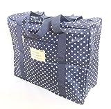 選べる オシャレ かわいい トラベル ボストン バッグ 旅行 カバン に 乗せて 使える キャリー オン バック (ネイビー(小))