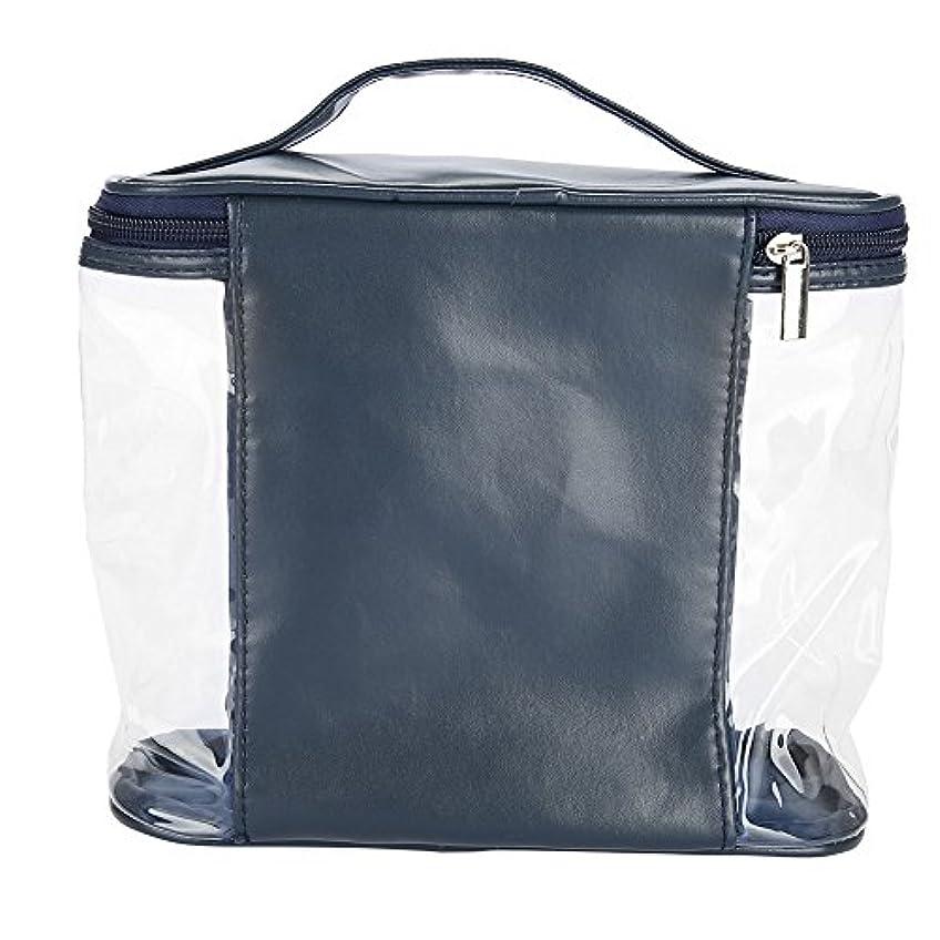 多用途マークされたマウス化粧ポーチ 収納 透明バッグ トイレタリーバッグ バスルームポーチ コスメ収納 透明バッグ 洗顔 旅行 出張用 防水 大容量