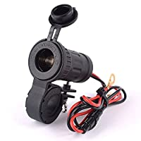 Iztoss オートバイのシガーライターハンドルバー電話電源アダプタ充電器