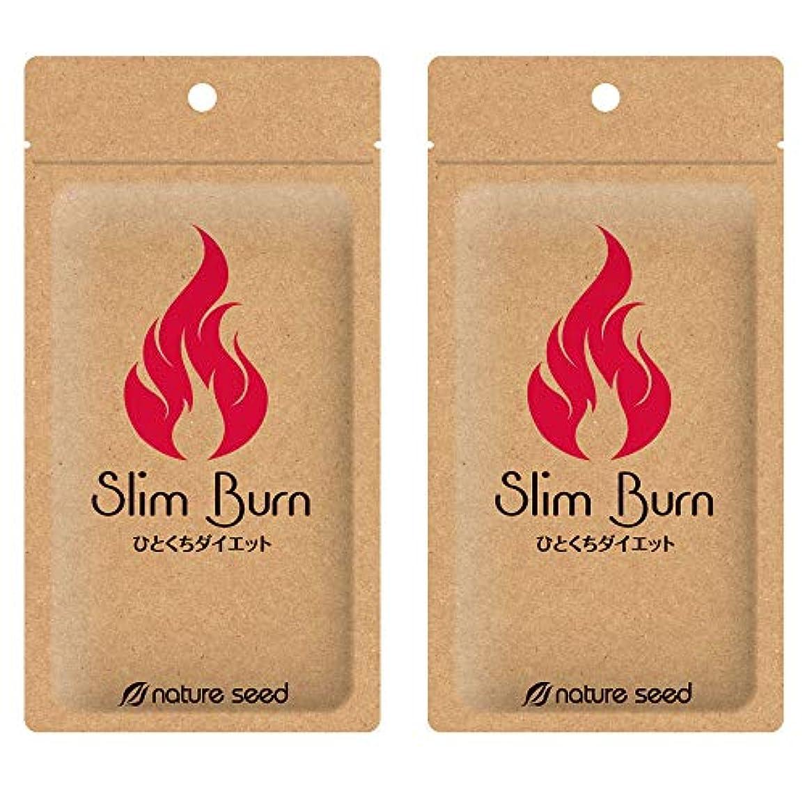 切手感謝しているかなり[燃焼サプリ]ダイエット 脂肪燃焼 くびれメイクをサポート サプリメント スリムバーン 2袋(約60日分)
