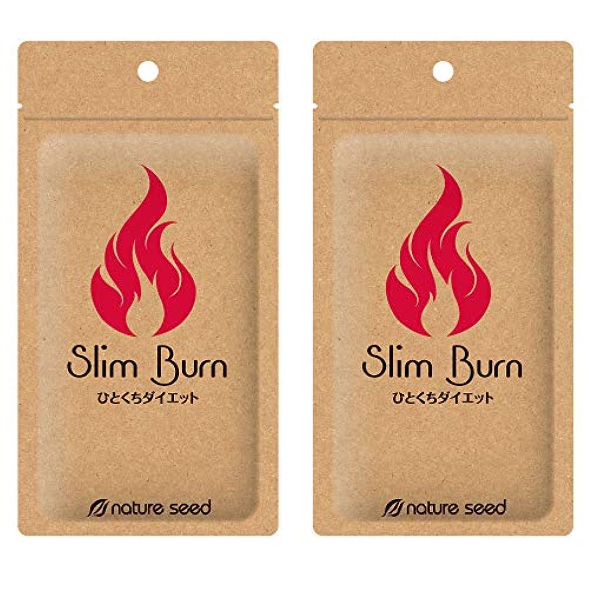 幻影ご覧ください同情的[燃焼サプリ]ダイエット 脂肪燃焼 くびれメイクをサポート サプリメント スリムバーン 2袋(約60日分)