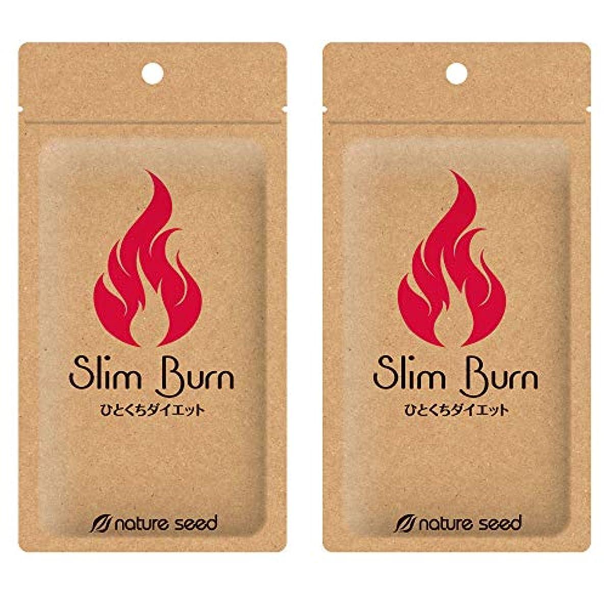 [燃焼サプリ]ダイエット 脂肪燃焼 くびれメイクをサポート サプリメント スリムバーン 2袋(約60日分)