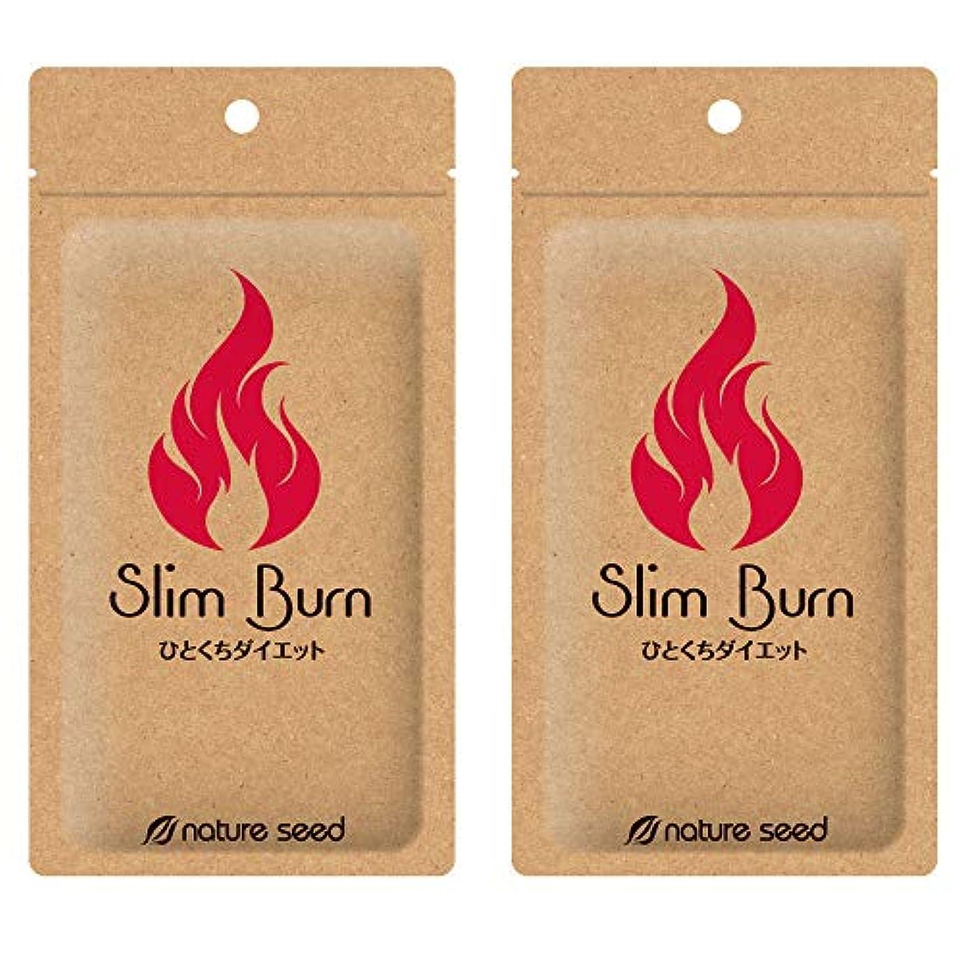 小競り合い考古学者仮称[燃焼サプリ]ダイエット 脂肪燃焼 くびれメイクをサポート サプリメント スリムバーン 2袋(約60日分)