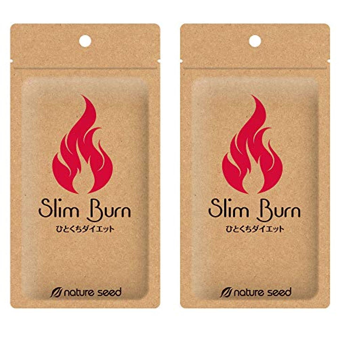 ぬるい被る吐き出す[燃焼サプリ]ダイエット 脂肪燃焼 くびれメイクをサポート サプリメント スリムバーン 2袋(約60日分)