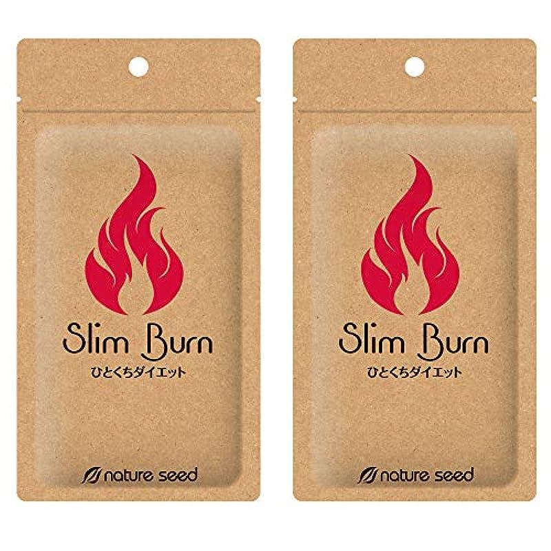 女性異なる追放する[燃焼サプリ]ダイエット 脂肪燃焼 くびれメイクをサポート サプリメント スリムバーン 2袋(約60日分)