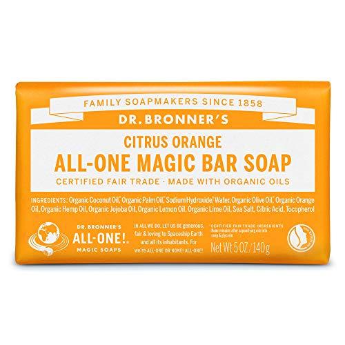 ドクターブロナー マジックソープバー(magic soap) 石鹸 シトラスオレンジ 140g ネイチャーズウェイ