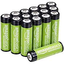 AmazonBasics AA Rechargeable Batteries (16-Pack), Packaging May Vary