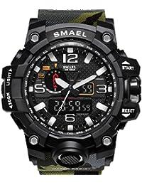 【TAILOR JAPAN】メンズ ミリタリー腕時計 メンズウォッチ 防水 デュアルコア アナログ デジタル SMAEL アウトドア スポーツ サバゲー