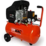 Unimac ACM-250 25L 2.5HP Portable Direct Drive Air Compressor, and 5pc Air Tool Kit