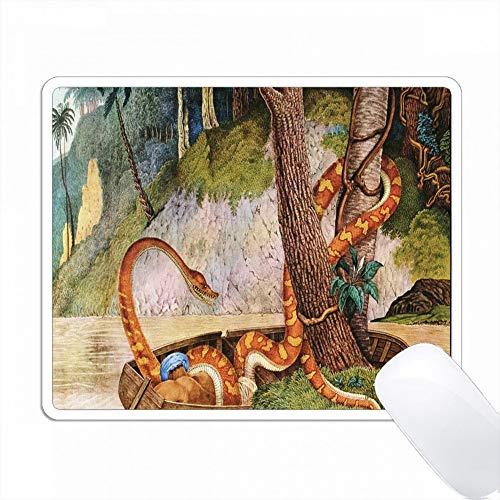 蛇とジャングルの1700絵画の印刷 PC Mouse Pad パソコン マウスパッド