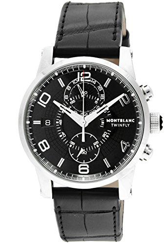 [モンブラン]MONTBLANC 腕時計 TIME WALKER ブラック文字盤 自動巻 アリゲーター革 105077 メンズ 【並行輸入品】