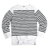 フランス軍タイプ ボーダー長袖Tシャツ not90220510204 (表記92(日本サイズS相当), WHITE/NAVY)