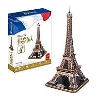 CubicFun MC091h Eiffel Tower Puzzle 82 Pieces [Floral] [並行輸入品]